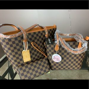NEW 3 in 1 Designer Monogram Handbag Wallet Set